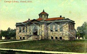 Carnegie Library - Howell, MI circa 1909
